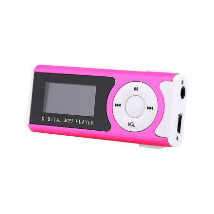 MP3-spiller med høyttaler system-rosa