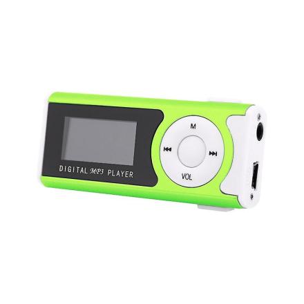 MP3-spiller med høyttaler system-grønn