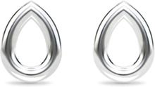 Spinning Jewelry ørestikker - Drop - Rhodineret sterlingsølv