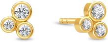 Spinning Jewelry ørestikker - Oasis - Forgyldt sterlingsølv