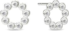 Spinning Jewelry ørestikker - Circle - Rhodineret sterlingsølv