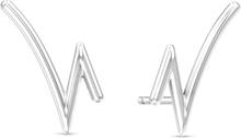 Spinning Jewelry ørestikker - Rhythm - Rhodineret sterlingsølv
