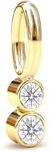 Spinning Jewelry vedhæng - Shine - Forgyldt sterlingsølv
