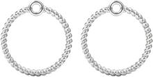 Spinning Jewelry vedhæng - Twisted circle - Rhodineret sterlingsølv