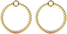 Spinning Jewelry vedhæng - Twisted circle - Forgyldt sterlingsølv