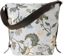 Shoulder Bag White Flower Linen, ONE SIZE