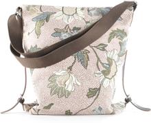 Shoulder Bag Dusty Pink Flower Linen, ONE SIZE