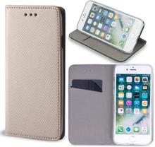 Huawei y6s - smart magnet flip case mobilplånbok - guld