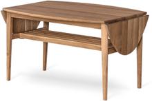 Flip soffbord oljad ek 90-140x69 cm