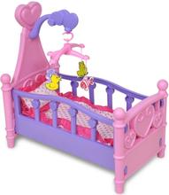 vidaXL Barnas lekerom - Dukke seng Rosa + Lilla