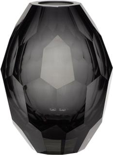 Hübsch - Hübsch Glass Vase - Vas - Grey/Clear - Ø13 H17 cm