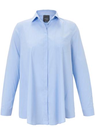 Skjorte - model BETA Fra Persona by Marina Rinaldi blå - Peter Hahn