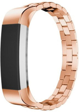 Fitbit Alta Luxury Dragon Tekstur Rustfritt Stål Armbånd - Rose Gull