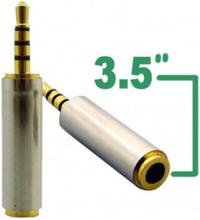 Guldpläterad 3.5 mm Hona till 2.5mm Hane audio adapter