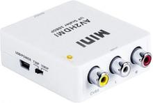 Mini Composite RCA CVBS AV till 720P 1080P HDMI Converter Adapter