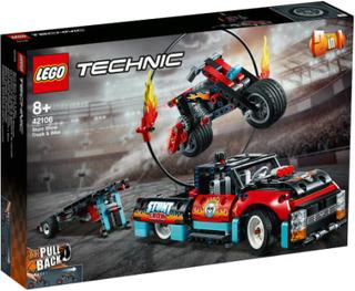 LEGO Technic Stuntshowbil og motorcykel