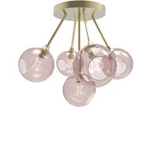Design by Us Ballroom Molecule Loftlampe Pink/Guld