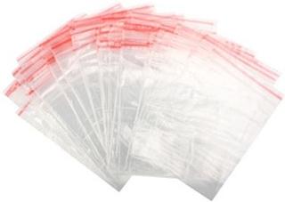 9 x 13 cm Zip Lock Väskor - Självstängande plastpåsar -