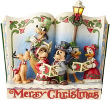 Mickey Mouse - Christmas Caroling Storybook -Statue - flerfarget