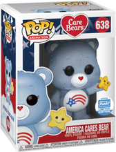 Care Bears - America Cares Bear (Glitter) (Funko Shop Europe) Vinyl Figure 638 -Funko Pop! -