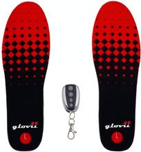 Ogrzewane wkładki do butów z pilotem Glovii GW2 - czarno-czerwone