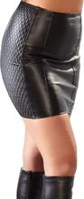 Læder Nederdel i ægte læder (Biker-Style)