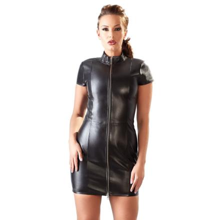 Kjole i ægte læder med Lynlås - boutiqueerotic