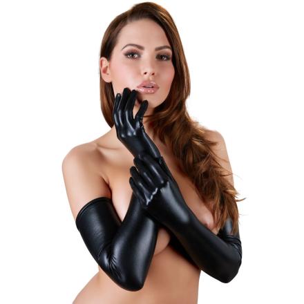 Lange Handsker i Wetlook - boutiqueerotic