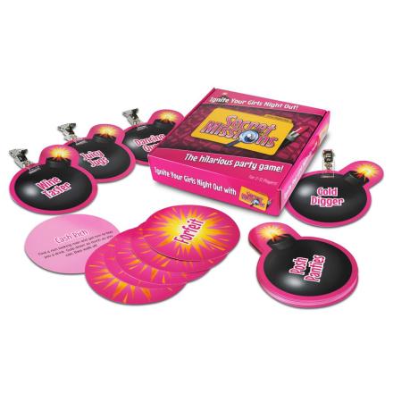 Secret Missions Girls Night - Partyspil til tøseaftenen