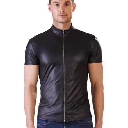 Wetlook Herre Shirt med Lynlås - boutiqueerotic