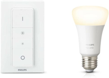 Philips Hue lysdæmpersæt med lyskilde i hvid - 9 watt - E27 - Bluetooth