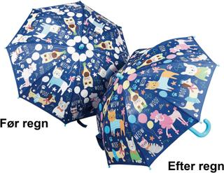 Paraply til børn med kæledyr som skifter farve - Fun4Rain