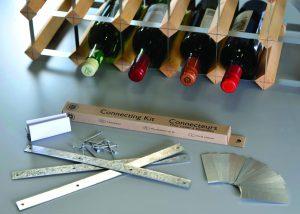 Sammanfogningskit till påbyggnadsbara vinställ - Traditional Wine Racks Co