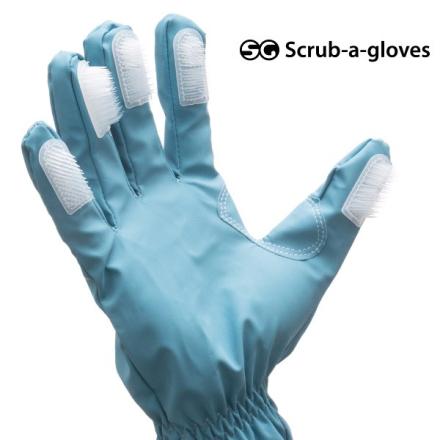 Rengöringshandskar med borstar Scrub-a-Gloves (2 st)