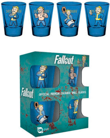 Fallout Shotglass Vault Boy - 4 stk