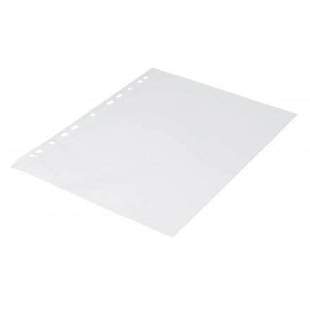 Plastlomme 0,12mm A4 med præg 100stk/pak Q-line m/hvid hulkant - Engsig.dk