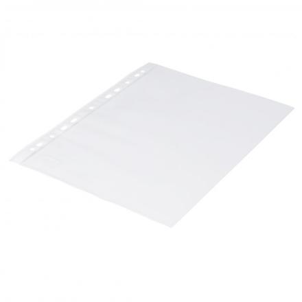 Plastlomme 0,06mm A4 glasklar 100stk/pak Q-line m/hvid hulkant - Engsig.dk