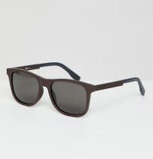 Boss - Orangea fyrkantiga solglasögon - Svart