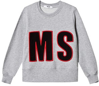 MSGM MSGM Applique Tröja Grå 4 years