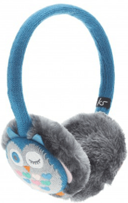 Kitsound öronmuff uggla hörlursmuff blå/grå