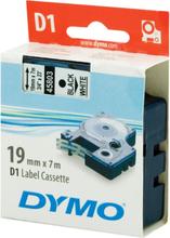 Tape cassette dymo d1 19mmx7m black/white