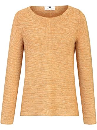 Rundhalsad tröja från Peter Hahn gul