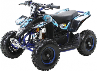 Mini ATV FOX Premium 49cc med el start - blå