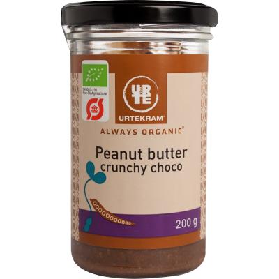 Urtekram Bio Erdnussbutter Crunchy Schoko 200 g
