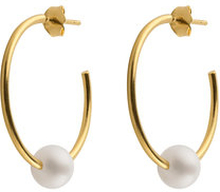 Pearl Hoops, ONE SIZE