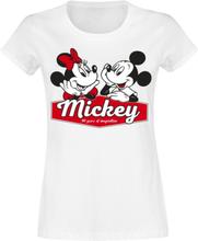 Mickey Mouse - Mickey & Minnie -T-skjorte - hvit