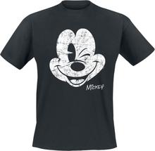 Mickey Mouse - Wink -T-skjorte - svart
