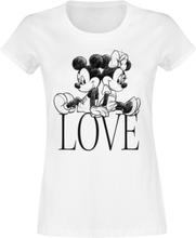 Mickey Mouse - Love -T-skjorte - hvit