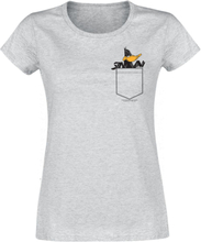 Looney Tunes - Daffy Pocket -T-skjorte - lynggrå