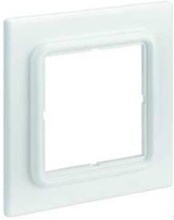 Faceplate frame for dual snap-in-jack module